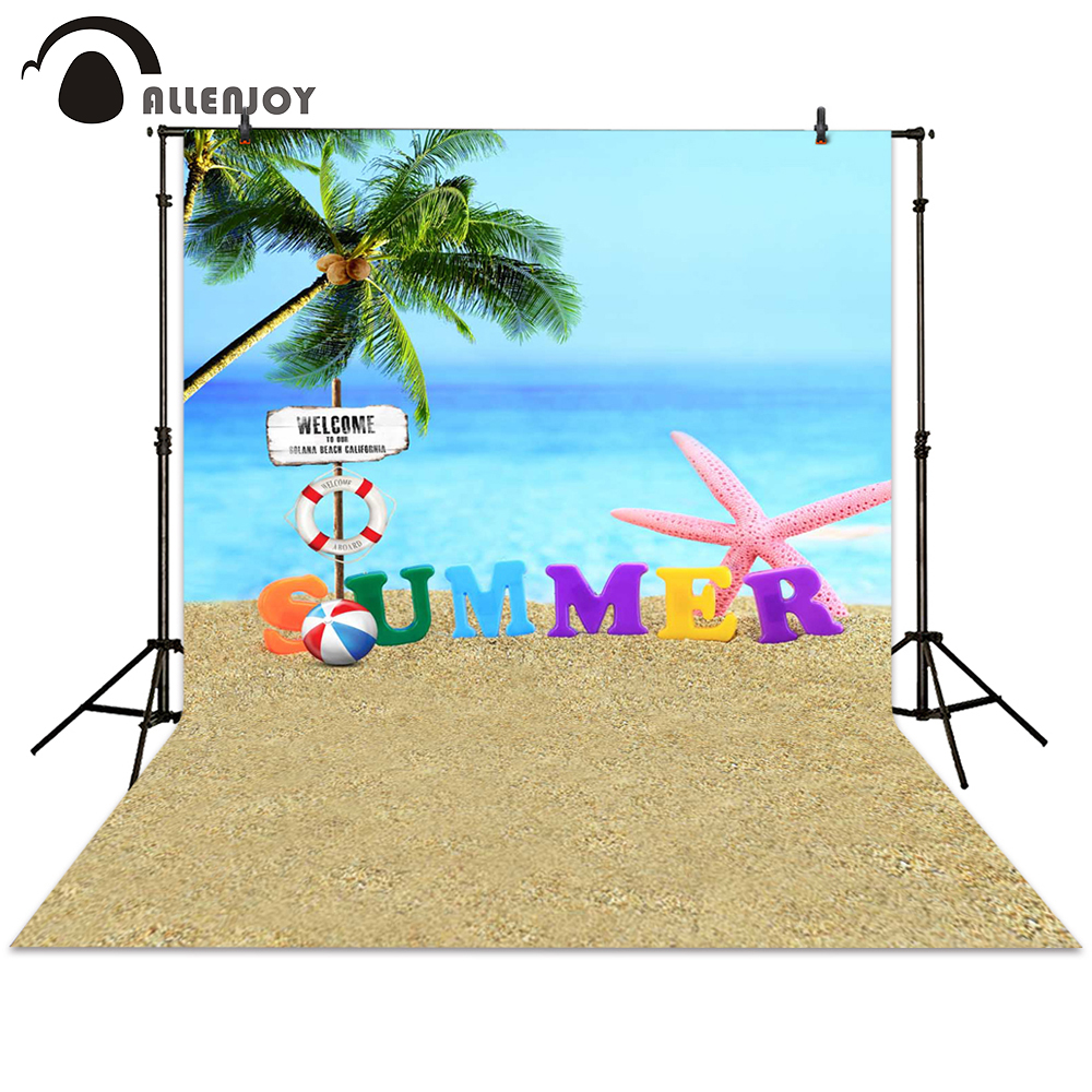 Allenjoy photography backdrop summer holiday beach rest sea background photo studio fantasy photocall photographic