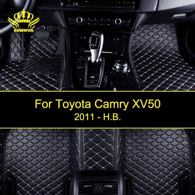 Автомобильные коврики для Тойота Camry XV50 пользовательских подходят для большинства автомобилей Искусственная кожа коврики защищают салон четыре сезона автоковрики