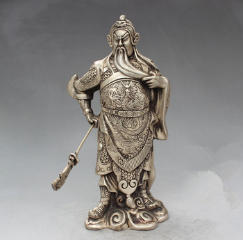 Antique white brass antique collection boutique furnishing articles broadsword guan gong