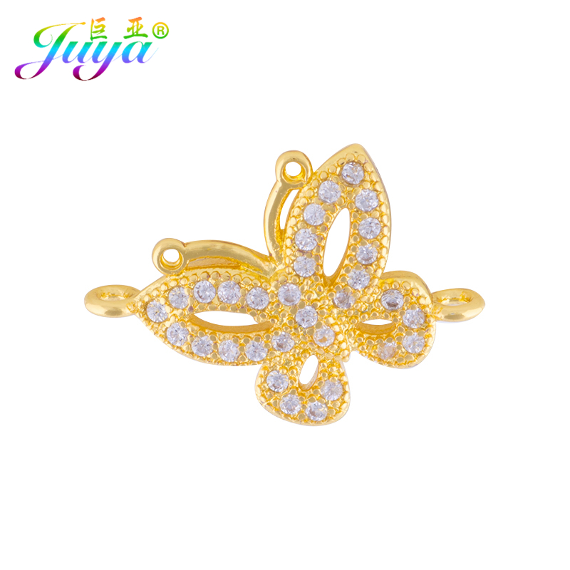 Handmade Jewelry Components Supplies Gold/Silver/Rose Gold Butterfly Charm Connector Accessories For Needlework Jewelry Making