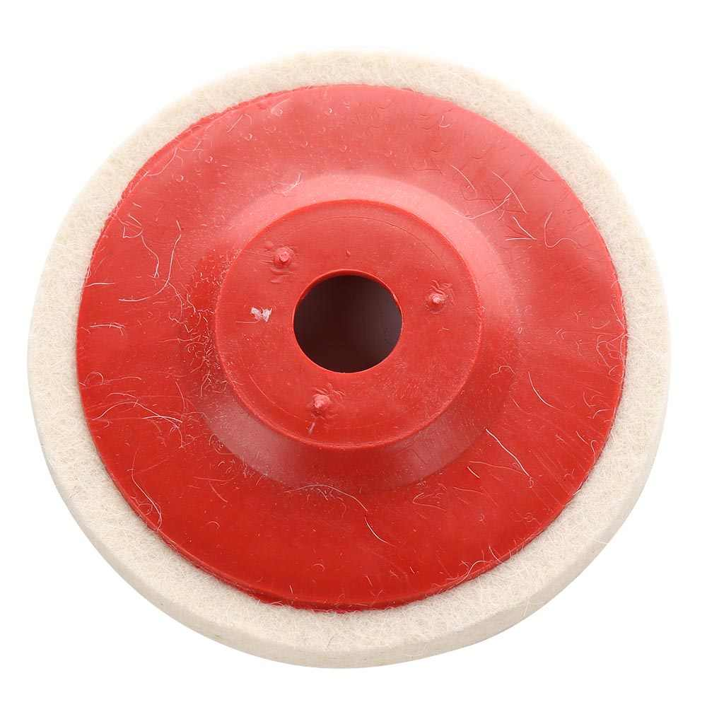100mm Wool Polishing Wheel Buffing Pads Angle Grinder Wheel Felt Polishing Disc for Metal Marble Glass Ceramics 1pcs
