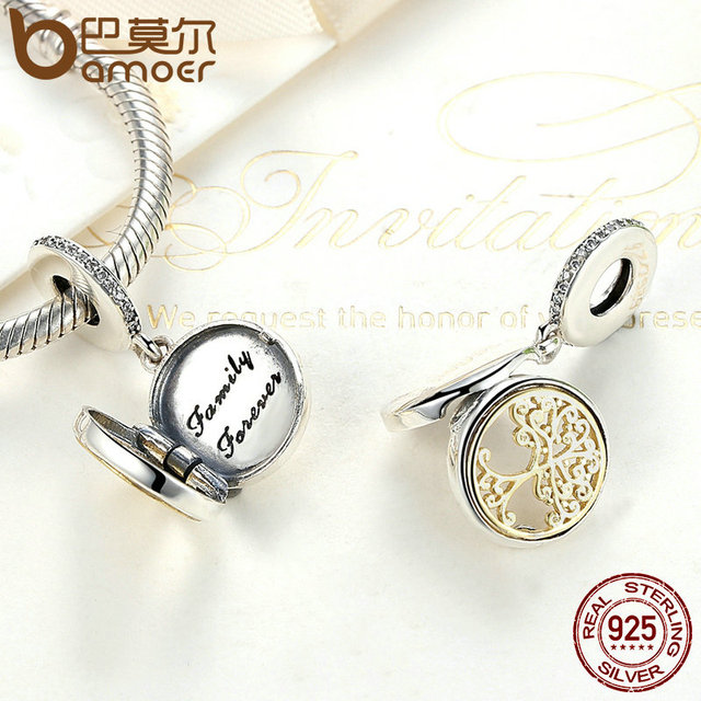 Sterling Silver Family Roots Trees Charms
