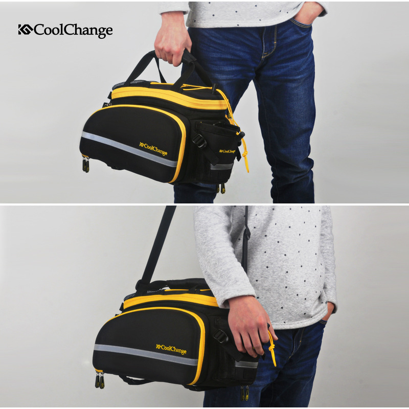 Image 5 - CoolChange Bicycle Rack Bag Reflective Bicycle Rear Seat Luggage 
