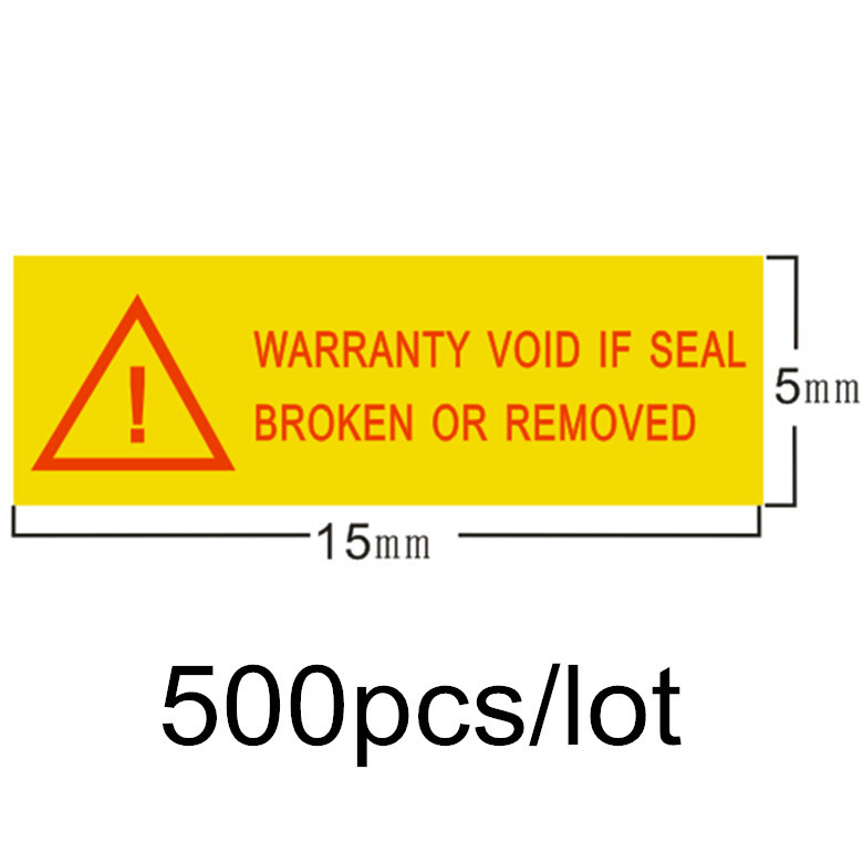 "Direct sales 500pcs/lot 1.5*0.5cm ""Warranty void if seal broken or removed ""sealing label void sticker if tampered free shipping"