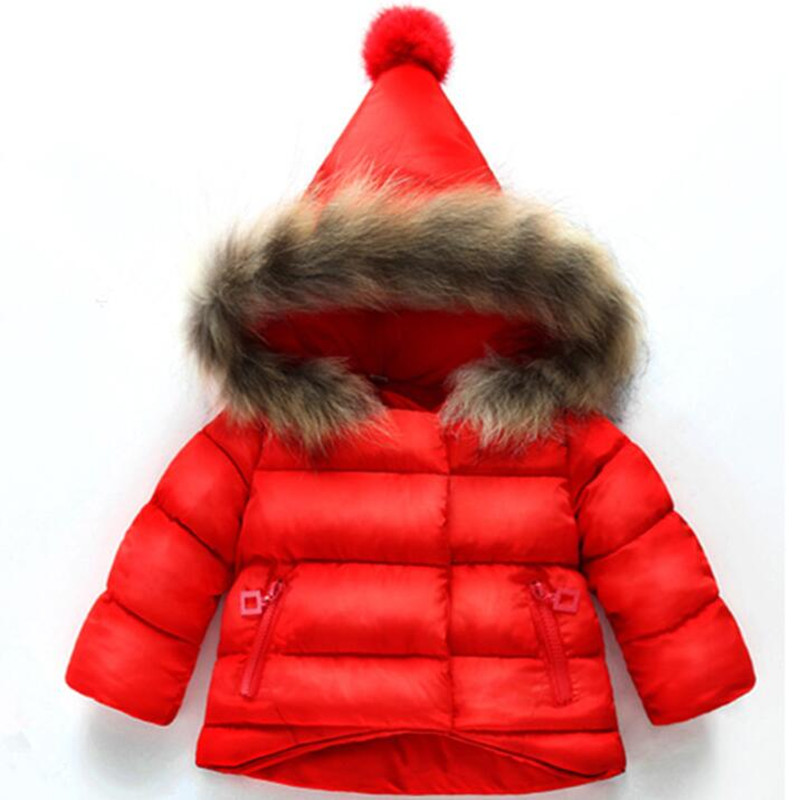 CHCDMP New Childrens Clothes Baby Boys Girls Jackets Autumn Winter Jacket Kids Keeping Warm Cotton Hooded Thick Outerwear Coat