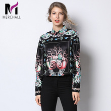 Merchall Top Brand Fashion Runway Blouses and Shirts 2019 Spring Designer Long Sleeve Vintage Print Womens Tops Office Blouse