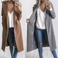 FANALA Women Winter Coat Casual Warm Winter Wool Trench Coat Parka Long Jacket Outwear Female Coats