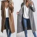 Fanala mujeres abrigo de invierno casual warm winter wool trench coat parka chaqueta larga outwear mujer abrigos