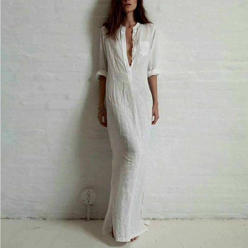 Black cotton maxi dress size 18