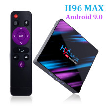 H96 MAX Smart TV Box Android 9.0 Wireless TV 4GB 32GB 64GB 4K USB IP TV Box Set Top Box WiFi Netflix Youtube Google Play Media цена и фото