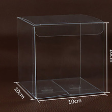 Packaging Transparent Clear-Box-Storage Pvc-Boxes Plastic Gift/cosmetics 200pcs for 10--10--10cm