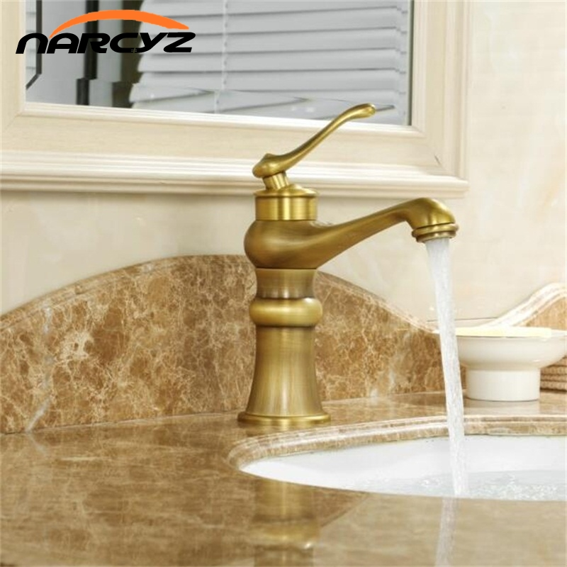 Basin Faucets Antique Bronze Brass Deck Bathroom Vessel Sink Faucet Tall Single Handle Hot Cold Mixer Water Tap Black ColorXT974 free shipping brass bathroom faucet vessel sink basin faucets mixer tap cold hot water taps orb black double handle wholesale