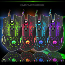 Newest 3200DPI USB Wired Gaming Mouse for PC Laptop Professional LED Optical 6D Gamer Computer Mice 6 keys High Quality