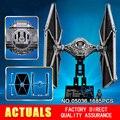 NUEVA LEPIN 05036 1685 unids TIE Fighter Modelo de Star Wars Building blocks Ladrillos Clásico Compatible 75095 Niños Regalos
