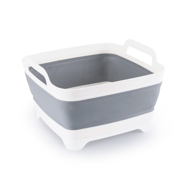 ANHO Plastic Foldable Wash Bucket Creative Portable Kitchen Bathroom Car Washing Camping Fishing Clean Tool Outdoor Accessories
