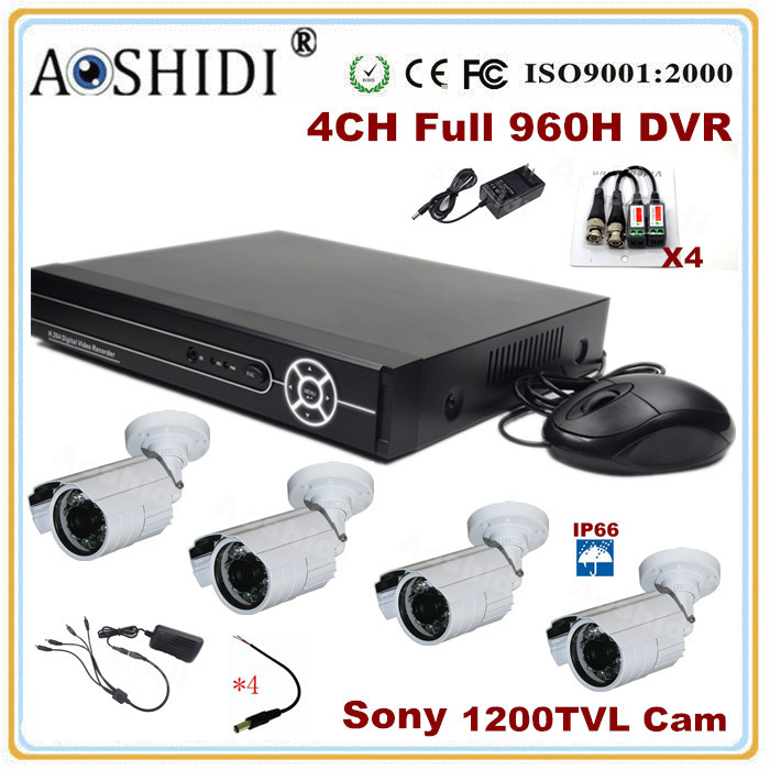 Best Price 4 channel FULL 960H CCTV Security Camera System