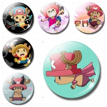 Straw Hat Mongolia Its D. Luffy 30 MM Fridge Magnet Glass One Piece Refrigerator Magnetic Stickers Cute Cartoon Magnets