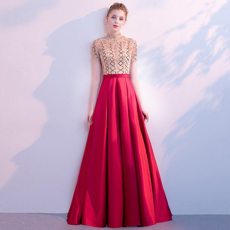 5b70a7ebe2d NICEOOXIAO с открытыми плечами свадебное вечернее платье 2019 новый длинный  ...