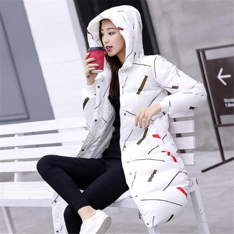 Inverno Manteau white Capuche Bas 2018 Survêtement Femmes Printi Nouveau Feminino À Chaud Veste Le Femme Black Ouatée D'hiver Parka Coton Vers Longue ttUSqw1