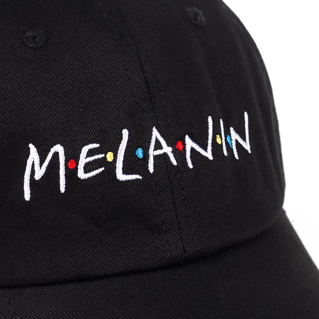 910860e5 2018 new arrival MELANIN letter embroidery baseball cap women snapback hat  adjustable men fashion Dad hats wholesale Hip Hop cap-in Baseball Caps from  ...