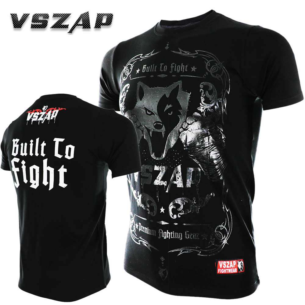 VSZAP MMA Clothing Shirts Rashguard Fitness Base Layer Skin Tight Weight Lifting Men T Shirts Muay Thai Shorts Boxe