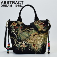 New 2019 Style handbags Glittering Peacock designer Sequins women's canvas shoulders bag women bags pattern fashion Casual Tote