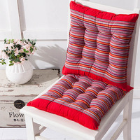 1 PCS Cotton Chair Cushion Grid Striped Square Chair Pads Cushions Home Decor Comfortable Soft Seat