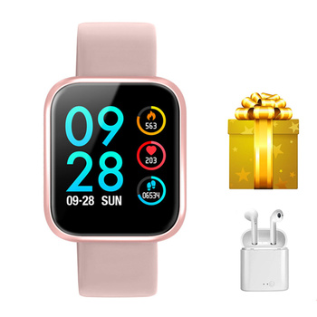 P68 Smartband+earphonesset ip68 mens watch smart wristband pedeometer fitness tracker VS Mi band 3 for huawei  sony iphone