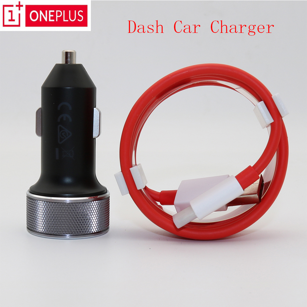 Original Oneplus 6 Dash Car Charger Dash Charge 3.4V~5V=3.5A Standard 5V=2A For Oneplus 5t 5 / 3T / 3 100cm Cable