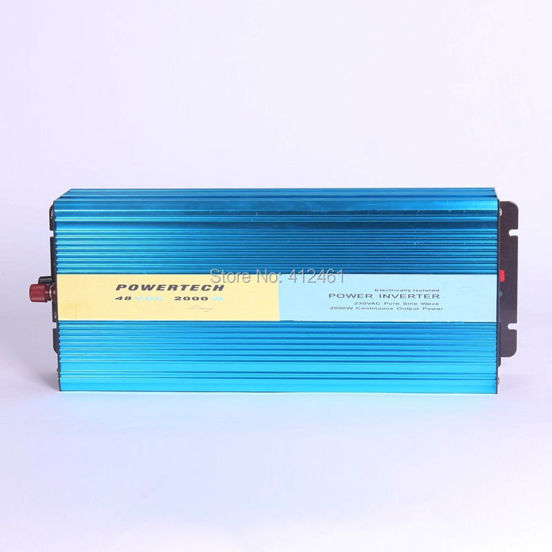 Free Shipping, Off Grid Tie Invertor 2000W DC12V/24V/12V Pure Sine Wave Invertor for Wind Solar System (Black or Blue Color)