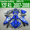 Cool Fairings For YAMAHA YZF R1 07 08 Blue White Free Custom Injection Fairing Kit Lx53
