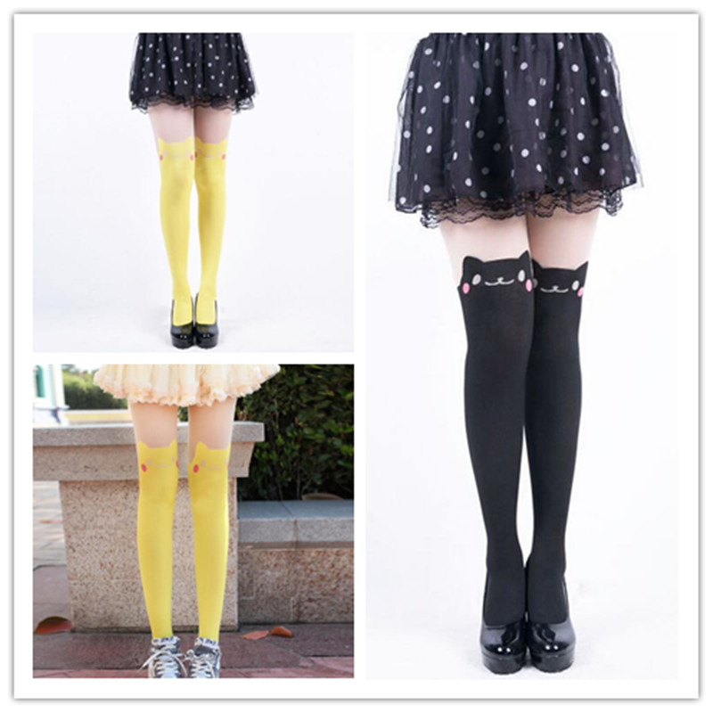 Cartoon Pikachu Printed Stockings Charm Sexy Tights Girls Kawaii Pantyhose Ladies Tights Birthday Craft Gift for Girl 95ZQ26