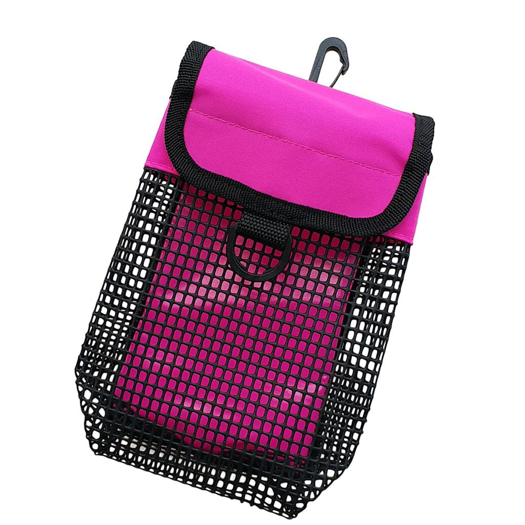 Portable Lightweight Mesh Bag Scuba Diving Reel Snap SMB Safety Marker Buoy Mesh Gear Bag Equipment Holder Carry Pouch Colorful in Pool Accessories from Sports Entertainment