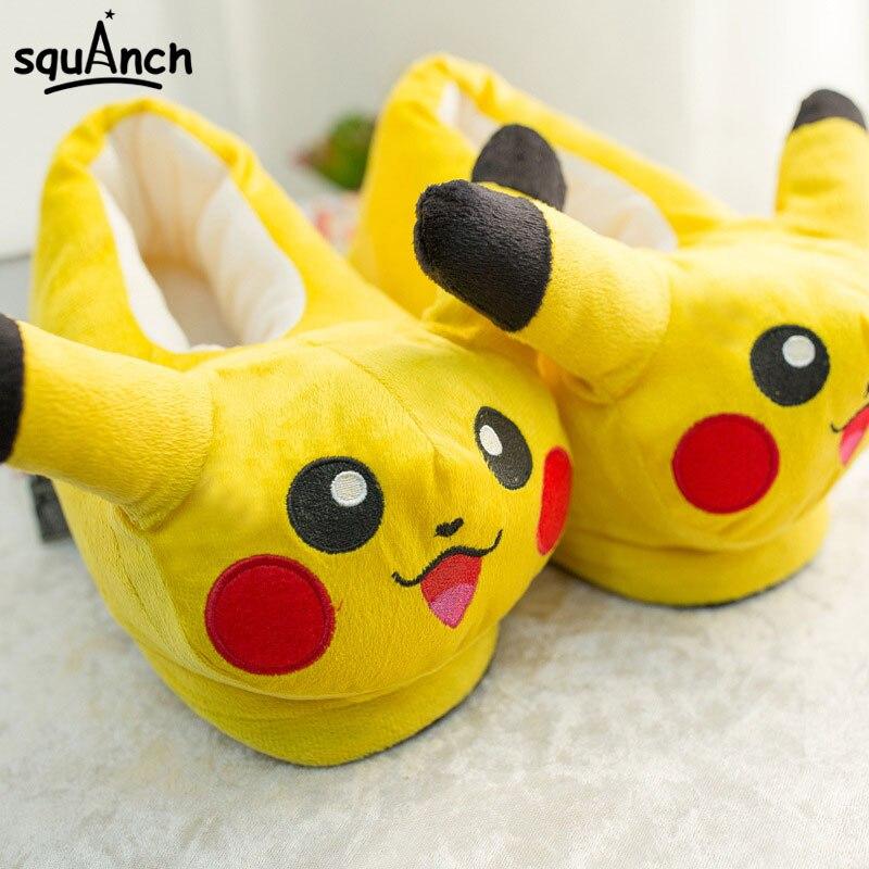 Nuevos animales zapatillas Kawaii Cartoon Anime Kigurumi Pokemon partido  niños adulto Cosplay Prop Invierno Caliente hombres a1f912edde3a