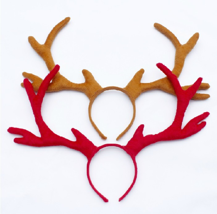 Free shipping ,Christmas gift ,50cm big large reindeer party headband. red brown deer party hairband