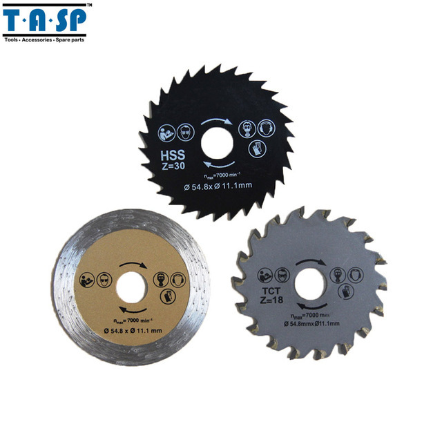 Tasp mini circular saw blade set 548x111mm for metalworking tasp mini circular saw blade set 548x111mm for metalworking woodworking tiling 3pc keyboard keysfo Gallery