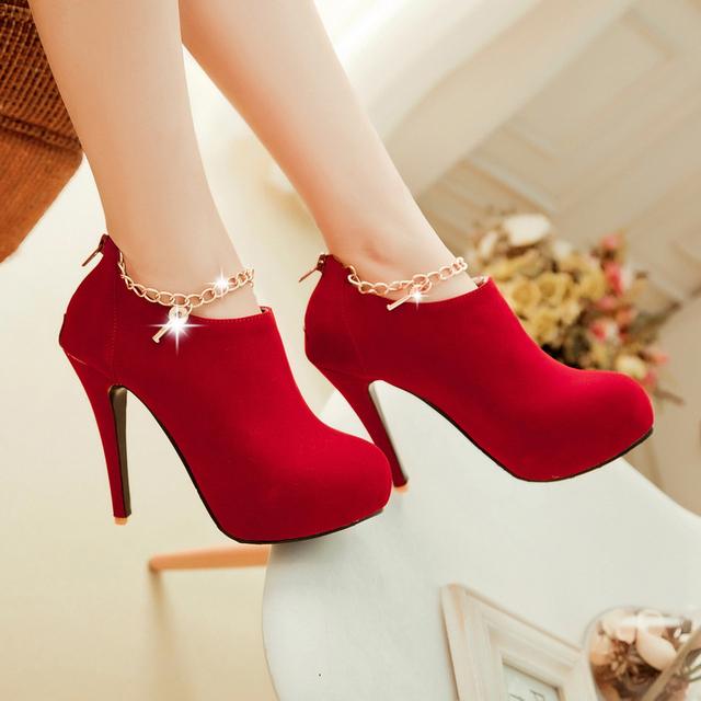 2016 Nuevo tamaño grande 34-43 cargadores de las mujeres Solos zapatos de tacones finos 12 cm tacones altos de la moda 3 zapatos de la boda bombas de las mujeres de color
