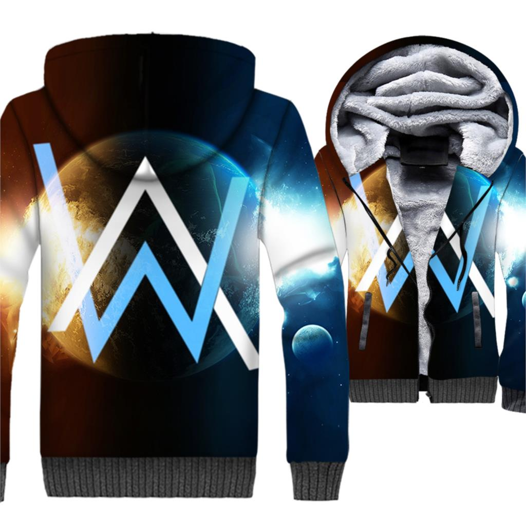 Music Punk Rock Men Jacket 3D Kpop Hoodies Hooded Sweatshirt 2018 Brand Winter Thick Fleece Warm Hip Hop Coat Hipster Streetwear