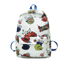 Fashion Cartoon Printed Backpack Women School Bags Pack Sac A Dos Femme Design Female Soft Printing Canvas