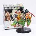 Gratis Shipping1pc 14 cm Dragon Ball Z Super Saiyan Goku con el dragón Riding acción PVC figuras de colección modelo de juguete muñeca