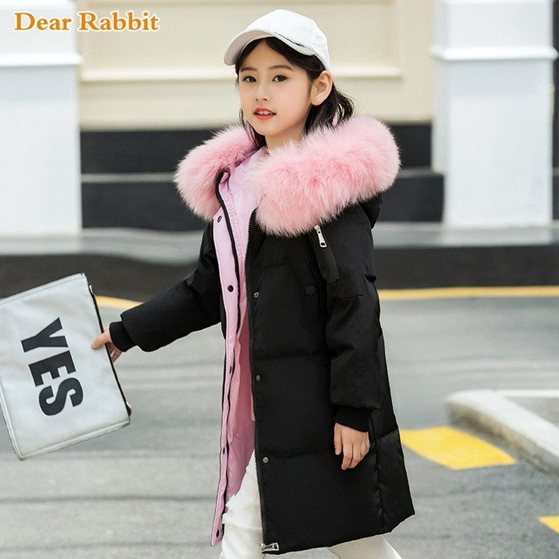30 degree 2019 Fashion girls clothing winter duck Down Jackets Children Coats warm thick clothes