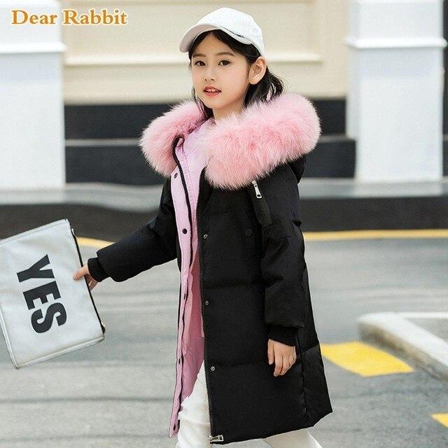Модная одежда для девочек до 30 градусов, зима 2019, куртки на утином пуху, детские пальто, теплая плотная одежда, детская верхняя одежда для холодной погоды