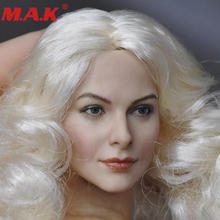 1/6 scale DIY head sculpt with white curls hair action figure model CG CY female girl woman lady painted