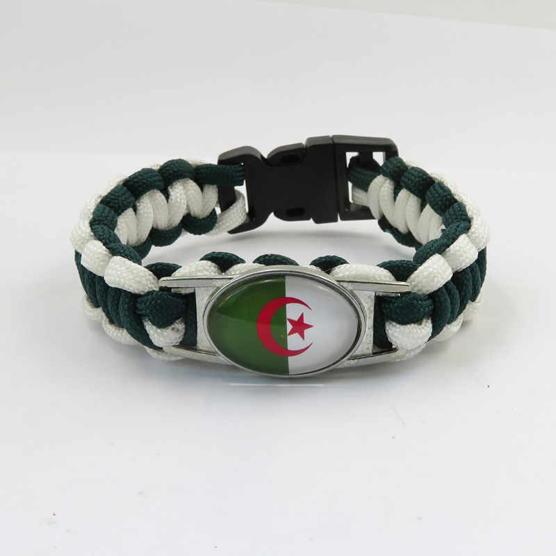 แฟชั่น love แอลจีเรียธงสร้อยข้อมือ handmade แอลจีเรียกำไลข้อมือแฟชั่นแอลจีเรียผู้ชายและผู้หญิงกำไลข้อมือแอลจีเรียเครื่องประดับ