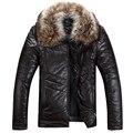 2016 Мужские кожаные куртки вниз хорошее качество мужской осень пуховик зимний пиджаки Удобная и теплая пуховая куртка Мужчины 550