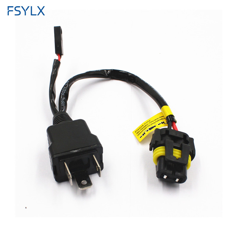 US $12.0 20% OFF|FSYLX Car H4 9003 HB2 HID wiring harness controller on
