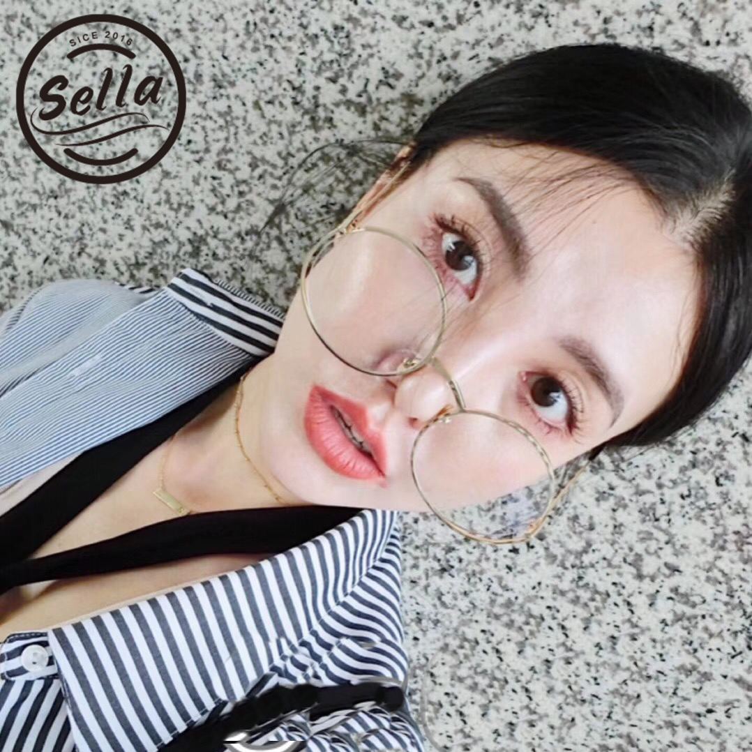 618a76dd8b3 Sella Brand Designer Fashion Women Oversized Retro Round Sunglasses Candy  Color Tint Gradient Clear Lens Eyewear Glasses Frame-in Sunglasses from  Apparel ...