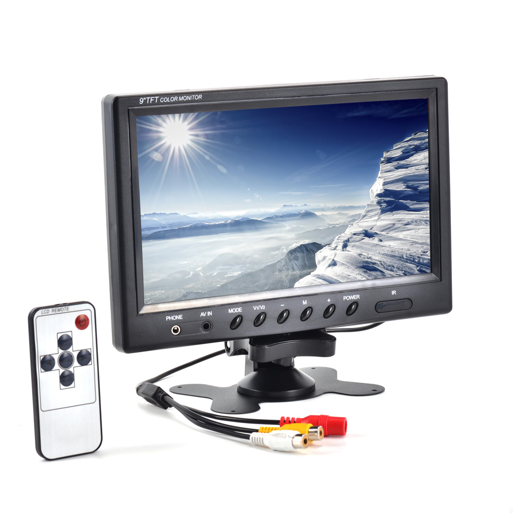 9'' inch Screen LCD HD 800*480 Resolution Car Monitor AV Digital Display For Camera + Remote Control 11 0 inch lcd display screen panel lq110y3dg01 800 480