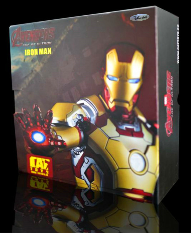 The Avengers Iron Man Mark 42 (LIFE SIZE) Palm MK42 1/1 Wearable Gloves With Launch Sound And Hand LED Charging Mode RETAIL BOX 1 1 the avengers iron man updated gauntlet glove led light left right hand new with retail box