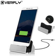 Overfly Micro USB Charger Docking Tipe C Charger Port Sync Cradle Dock Stand Holder untuk Samsung Huawei Xiaomi(China)